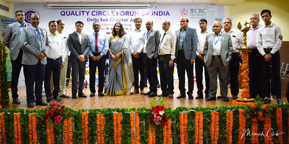 7th Convention of QUALITY CIRCLE FORUM OF INDIA (QCFA) Conclave at JU.